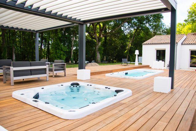 Terrasse avec Spa et Spa de Nage
